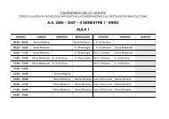 A.A. 2006 – 2007 – II SEMESTRE 1° ANNO AULA 1 - Sdasr.unict.it