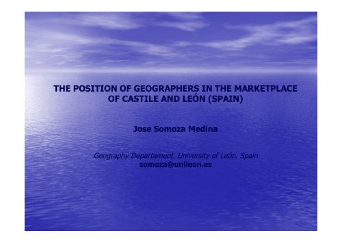 Diapositiva 1 - HERODOT Network for Geography in Higher Education
