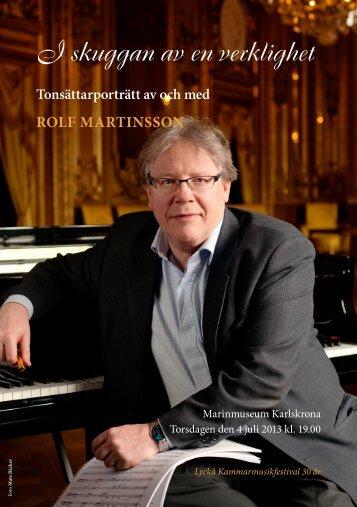I skuggan av en verklighet - Rolf Martinsson