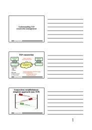 TCP connection Connection establishment: simplest approach (non ...