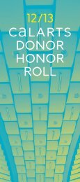 View the 2012-13 Honor Roll - CalArts