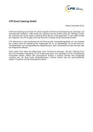 LPS Event Catering GmbH - Eurest Sports & Food GmbH