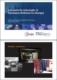 Hardware-Software-Co-Design - Informatik - Friedrich-Alexander ...