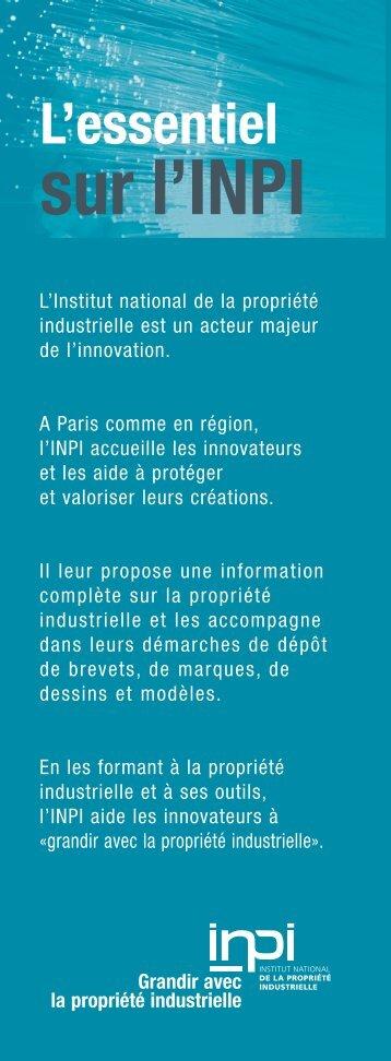 Essentiel sur INPI:Essentiel sur INPI.qxd - inpi.fr: Rhône-Alpes Lyon