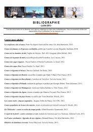 BIBLIOGRAPHIE - Bibliothèque et Médiathèques de la ville Grasse