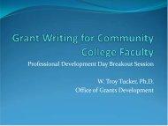 Grants at SCCC