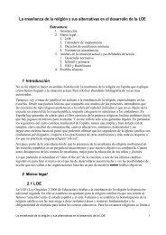 La enseñanza de la religión y sus alternativas en el desarrollo de la ...