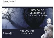 review of decisions of decisions of the registrar - Pension Lawyers ...