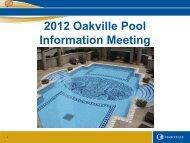 2012 Oakville Pool Information Meeting