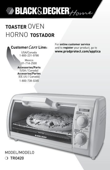 toaster OVEN HORNO tostador - Applica Use and Care Manuals