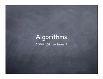Algorithms II