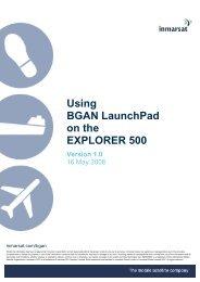 Using BGAN LaunchPad on the EXPLORER 500 - GMPCS Personal ...