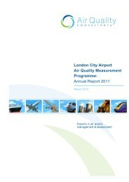 Air Quality 2011 Annual Report - London City Airport
