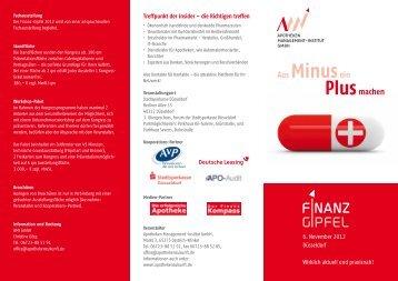 Veranstaltungsflyer - APO-Audit