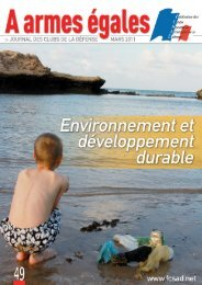Environnement et développement durable - La fédération des Clubs ...