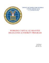 Working Capital Guarantee Delegated Authority Program