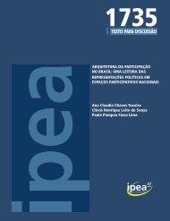 Arquitetura da Participação no Brasil - Ipea