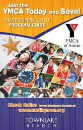 YMCA Today and Save!
