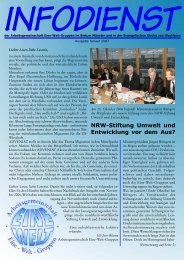 NRW-Stiftung Umwelt und Entwicklung vor dem Aus?