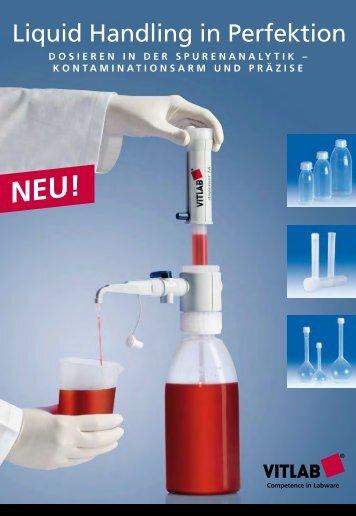 dosieren in der spurenanalytik – kontaminationsarm und ... - Vitlab