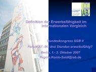 Erwerbsfähig = Beschäftigungsfähig - Bundeskongress-sgb2.de
