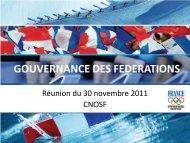 4. Document du CNOSF sur la gouvernance des ... - Extranet FFVB
