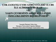 Çok Zamanlı Uydu Görüntüleri ve CBS İle Alibeyköy Barajı ve Yakın ...