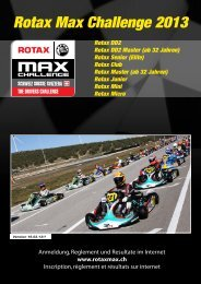 ReglementRMC Schweiz 2013 - Rotax Max