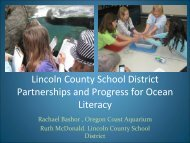 ocean literacy powerpoint presentation - Lincoln County, Oregon