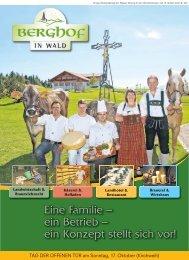 Eine Familie – ein Betrieb - Landgasthof Berghof