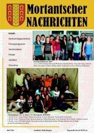 Jugendfest - Mortantsch