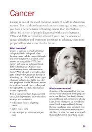 Cancer Chapter - The Healthy Woman - WomensHealth.gov