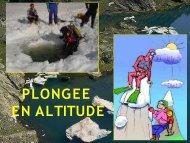 Plongée en altitude