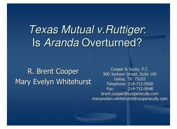 TMIC v. Ruttinger - Cooper & Scully, PC