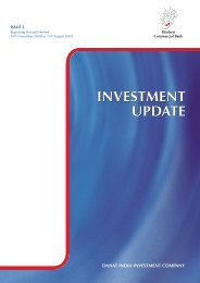 INVESTMENT UPDATE - Khaleeji Commercial Bank
