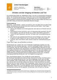 Christen und der Umgang mit Sterben und Tod - Schori Beratungen