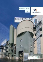 Preisliste 2012 - Vigier Beton Mittelland