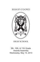 Download the award list - Bishop O'Dowd High School