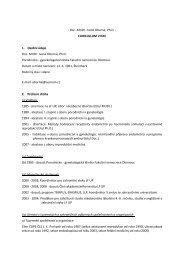 - Doc. MUDr. Ivana Oborná, Ph.D. - CURICULLUM VITAE 1 ... - LF