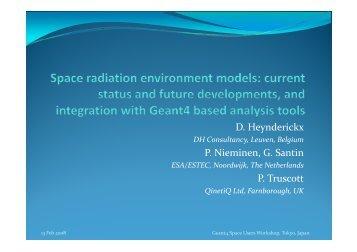 D. Heynderickx - X-ray Astronomy Group at ISAS