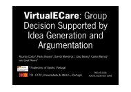VirtualECare: Group Decision Supported by Idea Generation and ...