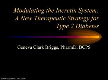 Modulating the Incretin System - Free CE Continuing Education ...