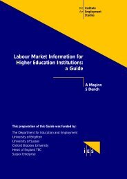 Labour Market Information for Higher Education Institutions: a Guide
