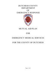 Mutual aid plan for emergency medical services - Dutchess County