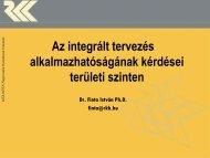 Az integrált tervezés alkalmazhatóságának kérdései területi szinten