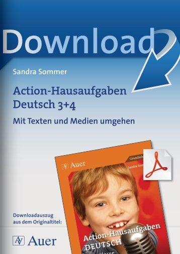 Action-Hausaufgaben Deutsch 3+4