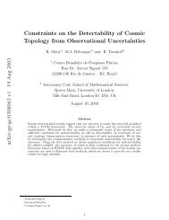 arXiv:gr-qc/0308063 v1 19 Aug 2003 Constraints on the ... - iucaa