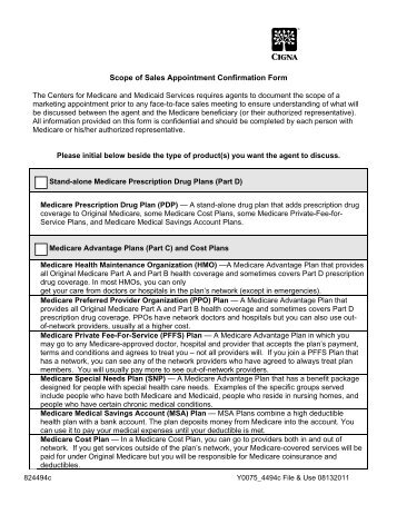 of Sales Appointment Confirmation Form