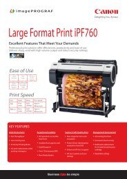 iPF760 2pp Data Sheet - Canon in South and Southeast Asia