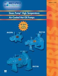 Dean Pump® RA3146 - Pristine Water Solutions Inc.